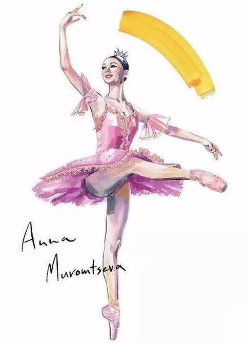 日本画家Mayuko Sase的芭蕾水彩